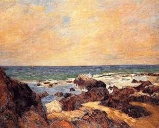 Скалы и море — Поль Гоген