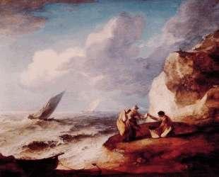 Rocky Coastal Scene — Томас Гейнсборо
