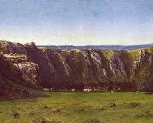 Скалистый пейзаж близ Флаже — Гюстав Курбе