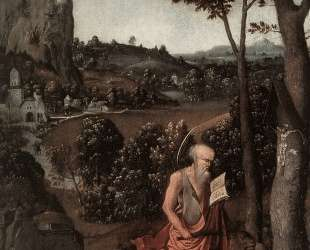 Rocky Landscape with Saint Jerome — Иоахим Патинир