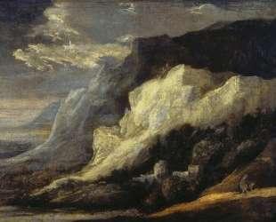 Rocky Landscape — Август Маке