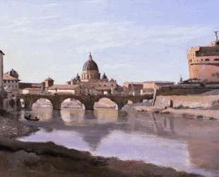 Рим. Замок Сан-Анджело — Камиль Коро
