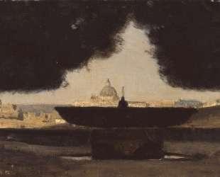 Рим. Фонтан Французской академии — Камиль Коро