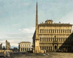 Rome: View of the Piazza di San Giovanni in Laterano — Бернардо Беллотто