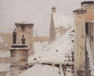 Крыши. Зима — Архип Куинджи