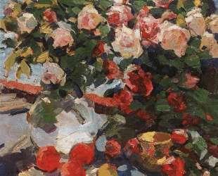 Розы и фрукты — Константин Коровин