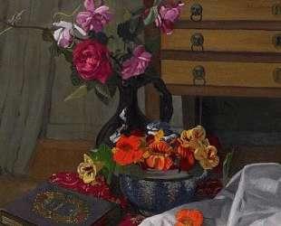 Roses and nasturtiums — Феликс Валлотон
