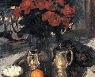 Розы и фиалки — Константин Коровин