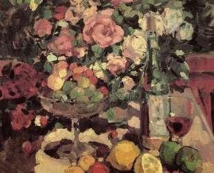 Розы, фрукты, вино — Константин Коровин