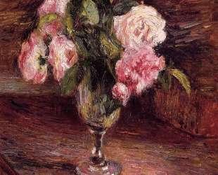 Roses in a Glass — Камиль Писсарро