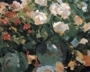 Розы в голубых кувшинах — Константин Коровин