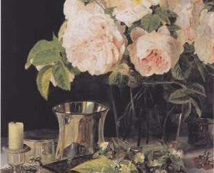 Roses in glass — Фердинанд Георг Вальдмюллер