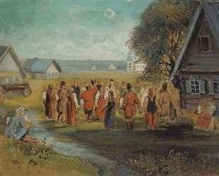 Хоровод в селе — Алексей Саврасов