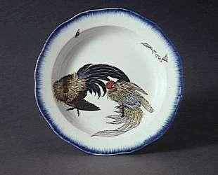 Round dish with scalloped edge — Кацусика Хокусай