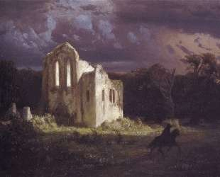 Ruins in the moonlit landscape — Арнольд Бёклин