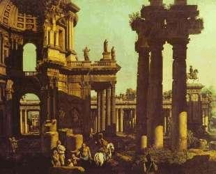Ruins of a Temple — Бернардо Беллотто