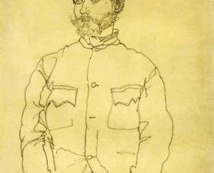 Russian Prisoner of War with Fur Hat — Эгон Шиле