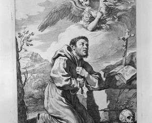 S. Francis in Prayer — Джованни Баттиста Пиранези