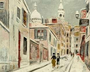 Sacre-Coeur and Passage Cottin — Морис Утрилло