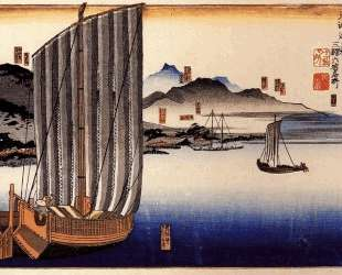 Sailing boat — Утагава Куниёси