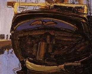 Sailing Ship with Dinghy — Эгон Шиле