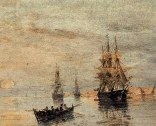 Sailing ships at dawn — Константинос Воланакис