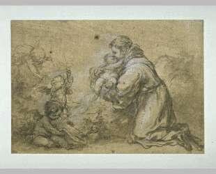 Saint Anthony Of Padua Adore The Child — Бартоломе Эстебан Мурильо
