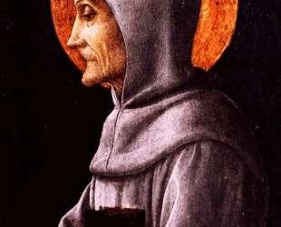 Saint Bernardine of Siena — Андреа Мантенья