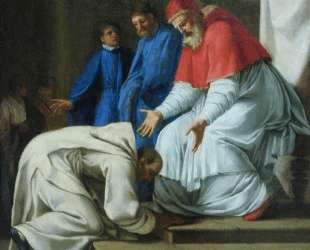 Saint Bruno the feet of Pope Urban II — Эсташ Лёсюёр