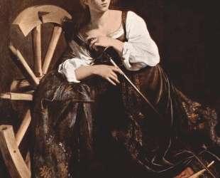 Святая Екатерина Александрийская — Караваджо