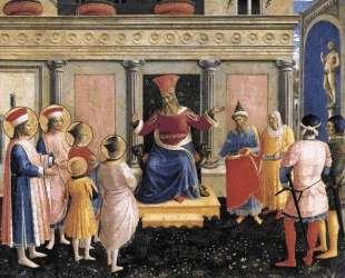 Святые Косьма и Дамиан представляют своих братьев проконсулу Лисиасу — Фра Анджелико