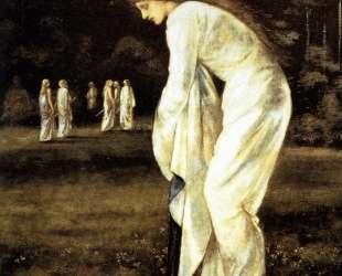Принцесса, привязанная к дереву — Эдвард Бёрн-Джонс
