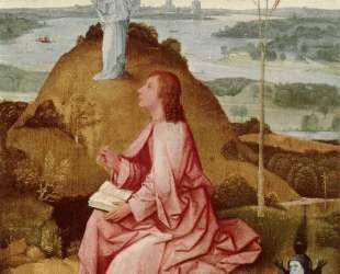 Св. Иоанн Богослов на острове Патмос — Иероним Босх