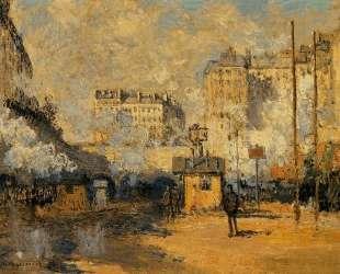 Вокзал Сен-Лазар, эффект солнечного света — Клод Моне