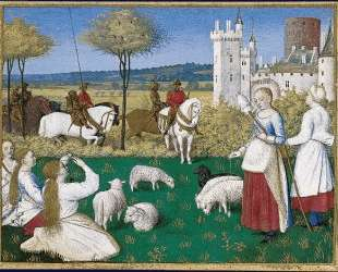 Sainte Marguerite and Olibrius, also known as Marguerite Keeping Sheep — Жан Фуке