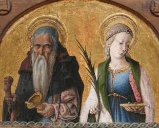 Saints Anthony and Lucia — Карло Кривелли