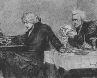 Salieri pours poison into a Mozart's glass — Михаил Врубель