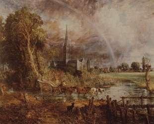 Вид на собор Солсбери с луга — Джон Констебл