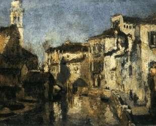 San Trovaso Square, Venice — Джон Генри Твахтман (Tуоктмен)