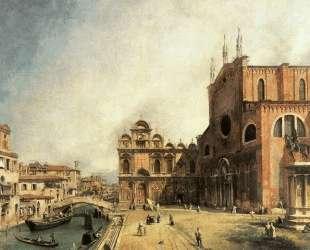 Santi Giovanni e Paolo and the Scuola de San Marco — Каналетто