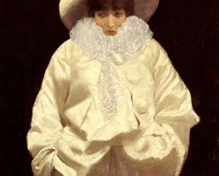 Sarah Bernhardt as Pierrot — Джузеппе Де Ниттис