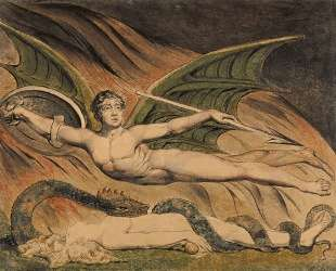 Сатана торжествует над Евой — Уильям Блейк
