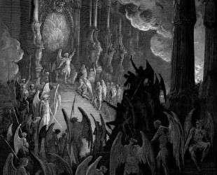 Иллюстрация к поэме Джона Мильтона 'Потерянный рай' — Гюстав Доре