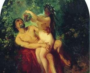 Сатир и Нимфа — Константин Маковский