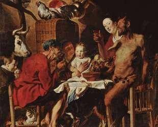 Satyr and Peasant — Якоб Йорданс