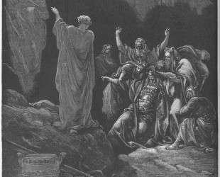 Саул и Ведьма Эндора — Гюстав Доре