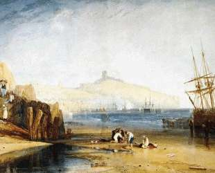 Scarborough Town and Castle. Morning. Boys Catching Crabs — Уильям Тёрнер