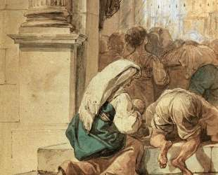 Сцена на пороге храма — Карл Брюллов