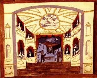 Scene design for 'Pulcinella' — Пабло Пикассо