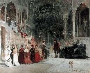 Scene from balet (study) — Илья Репин